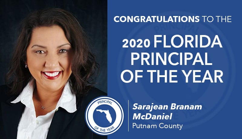 Sarajean McDaniel 2020 Florida Principal Of The Year
